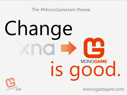The image showing the theme of the jam, 'Change is Good'
