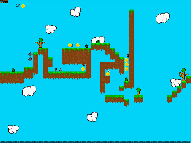 Przygody Wesołego Ludzika screenshot of the first level