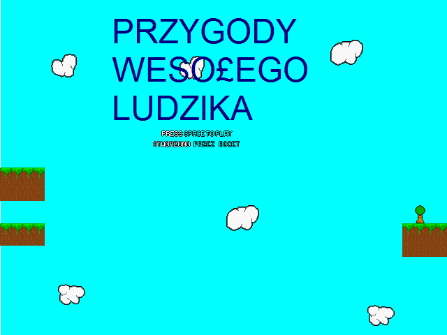 Przygody Wesołego Ludzika screenshot of the title screen