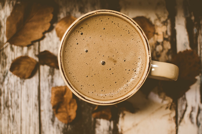 Photo of a coffee, in brown colors