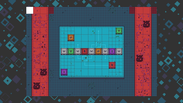Screenshot of a stage in Trans Neuronica