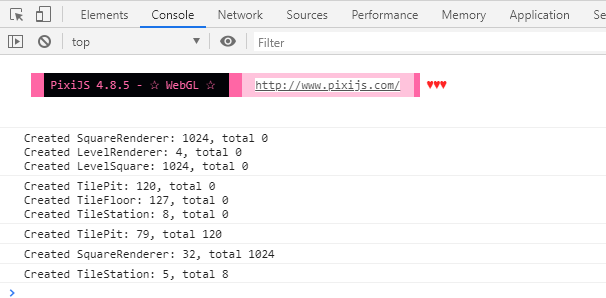 View of Chrome's dev tools showing logged object instantiation