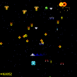 Galaxus screenshot with multiple enemies attacking the player