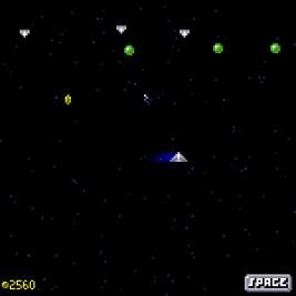 Galaxus screenshot with player flying around