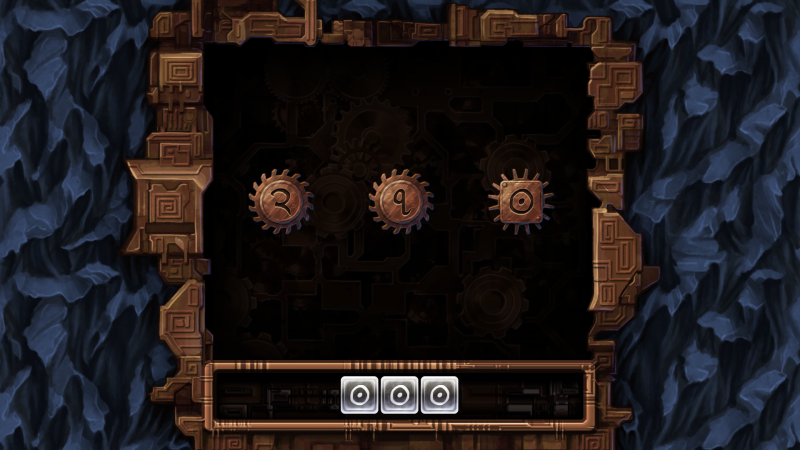 Machine at the Heart of the World, screenshot showing a level that teaches some rules regarding the numbers