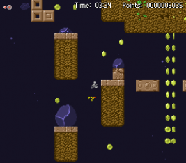 Slimower screenshot with the player climbing a vertical level