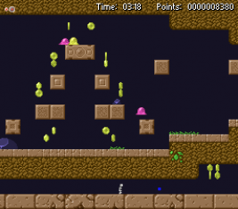 Slimower screenshot with a stage featuring a fancy pyramid
