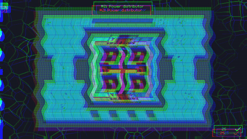Trans Neuronica screenshot with a glitching puzzle