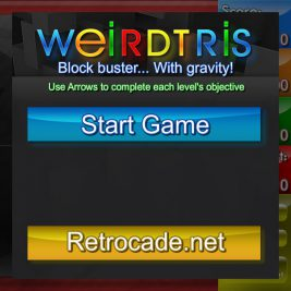Weirdtris screenshot with the title screen