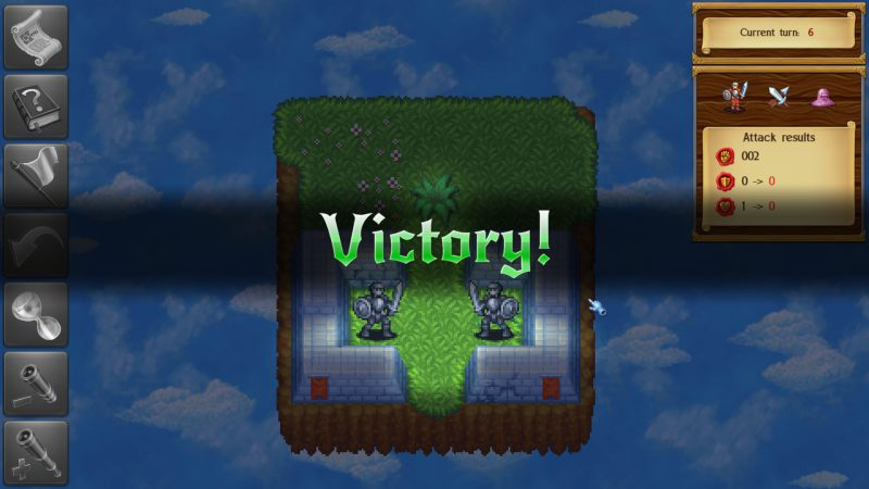 Monstro: Battle Tactics, mission completed screen