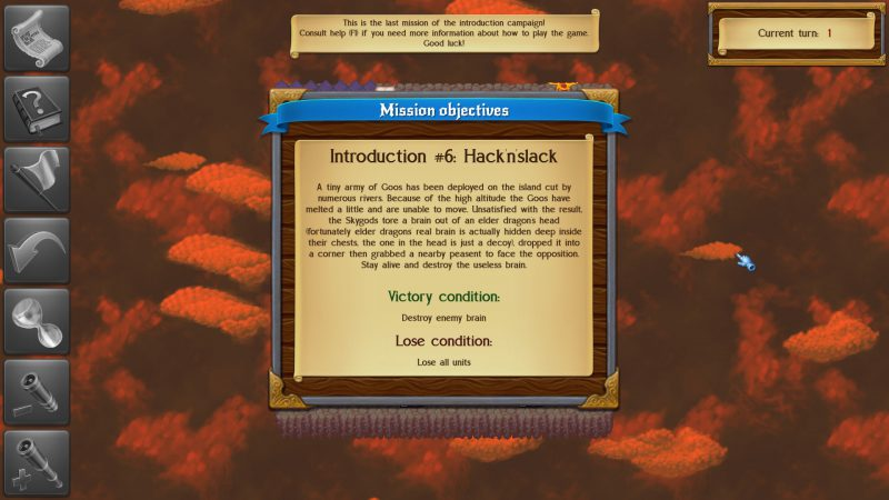 Monstro: Battle Tactics, showing mission description and objectives